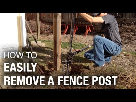 The Fastest and Easiest Way to Remove a Fence Post (that works every time)