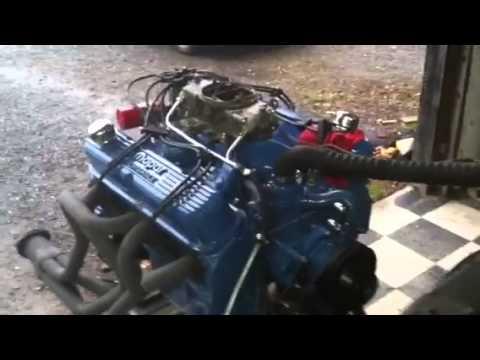Mopar 426 small block stroker on test stand