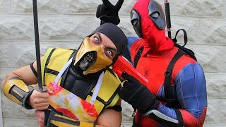 Scorpion & Deadpool Make PIZZA! (Cooking With Scorpion!) Mortal Kombat