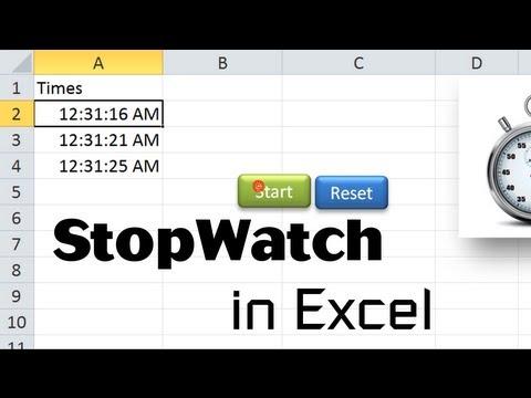 Excel VBA Tips n Tricks #18 Stopwatch in Excel