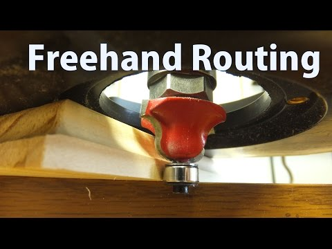 How to Use a Router Freehand - Beginners #11 - woodworkweb