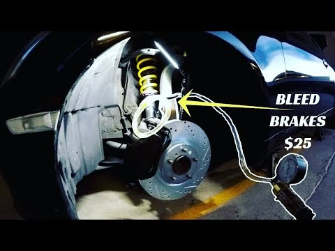 INFINITI G35 - How to BLEED FLUSH BRAKES by Yourself