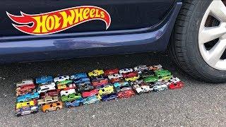 EXPERIMENT: CAR VS 50 HOT WHEELS TOY CARS