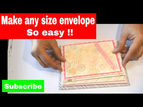 The best way to make your own envelopes any size (without an envelope maker).