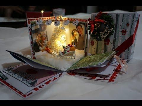 Lit Up Christmas Exploding Box