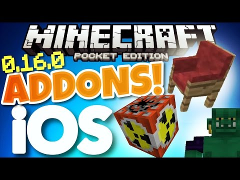 Minecraft PE 0.16.0 ADDONS // How to get addons on iOS Minecraft Pocket Edition 0.16.0 [MCPE 0.16.0]