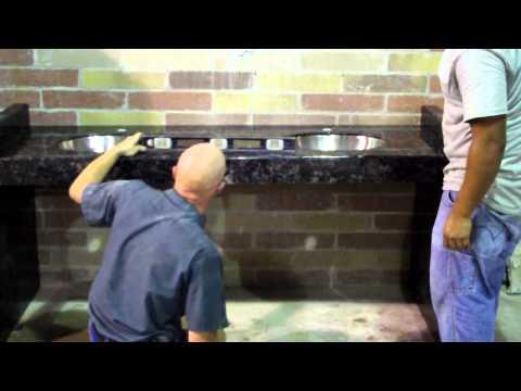 Advantage Vanity, worlds easiest ADA granite vanity installation ( mock  up )