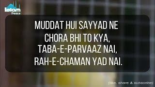 """Muddat Hoi Sayyad Ney Chora Bhi To Kia"" || Heart Touching Molana Tariq Jameel Poetry"