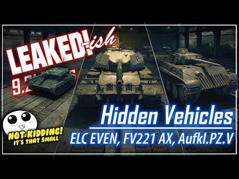 LEAKED!-ish 9.21 Hidden Vehicles || World of Tanks