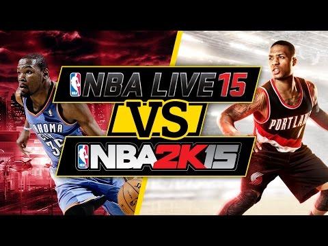 NBA Live Vs. NBA 2K15 Graphics Comparison (Xbox One)