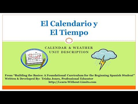 Spanish Calendar & Weather Lesson Plans