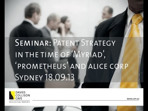 Patent Strategy in the time of Prometheus Myriad and Alice Corp