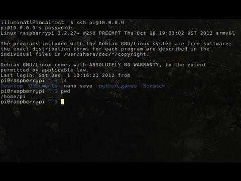 Raspberry Pi - How to SSH - Remote view your Pi...