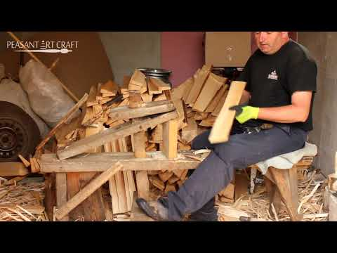 Making and Installing Wooden Shake Roofs in the Carpathian Mountains