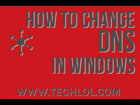 How to change dns server windows