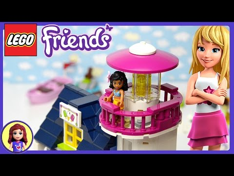 LEGO Friends Heartlake Lighthouse Set Unboxing Building Review - Kids Toys