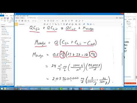 Mass Balance for Sludge Calculation in Water Treatment Plant