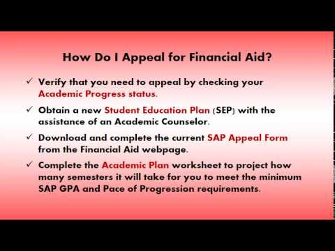 Part 1 -  How Do I Appeal For Financial Aid?