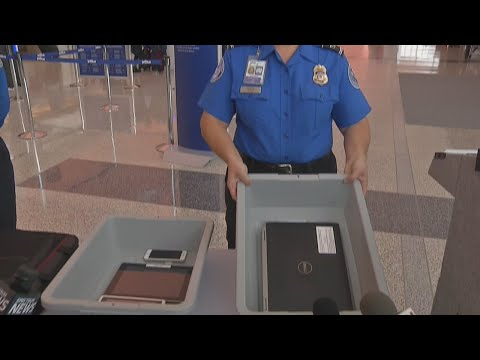 TSA officers demonstrate new security rules at Buffalo airport