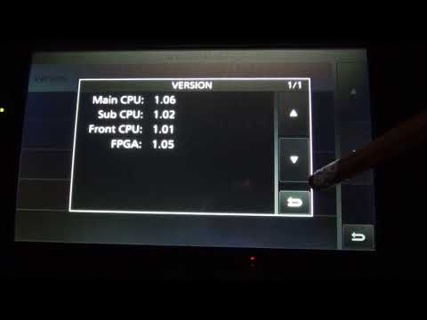 IC-7610 Firmware Update 1.06 completed at WX0V