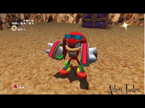 (knuckles, Wild Canyon)How to clear hard mode (mission last)(Sonic adventure 2: Battle)
