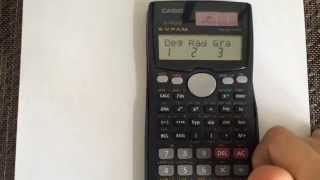 Converting From Radians To Degrees Using The Calculator Casio Fx 991ms