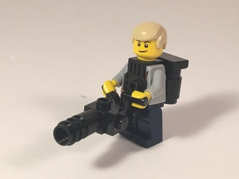 How to Build a Lego Minigun!  M1NDxBEND3R Moc