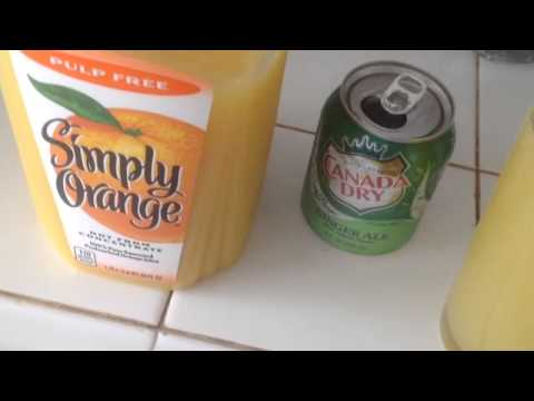 Perfect mix of Orange juice and Canada dry ginger ale