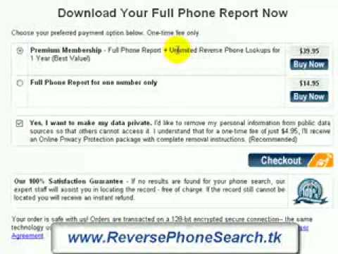 Search for a telephone number - reverse phone look up REVIEW