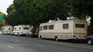 Motorhome Homeless In LA