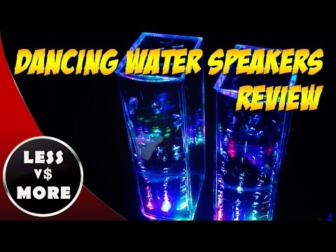 LED Dancing Water Speakers Review ♫ Cool Party Speakers ♫