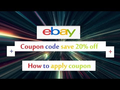 Ebay coupon code save 20% off your order