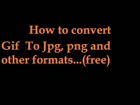 How to convert gif image to jpg or png any  format ?