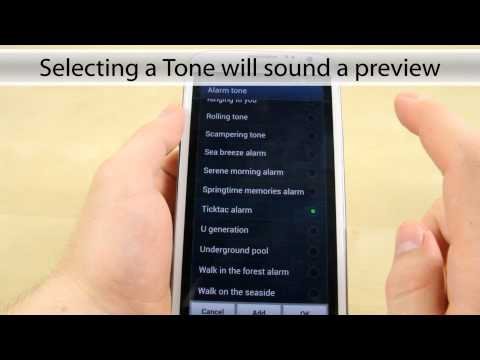 How to change the alarm on the Samsung Galaxy Note 2