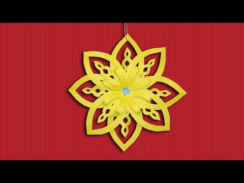Make Paper Snowflakes Out of Color Paper - DIY Christmas Crafts [Decoration] Ideas