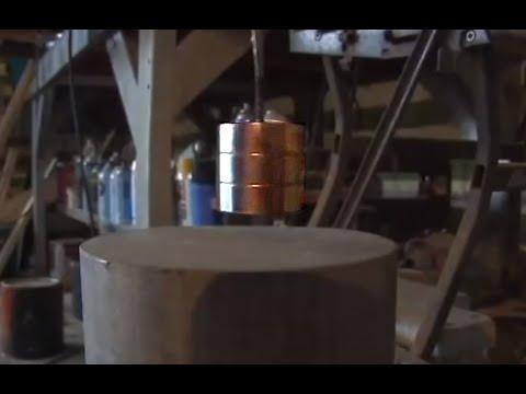 GIANT Magnet on Aluminum Ingot Neodymium Magnet Paramagnetic