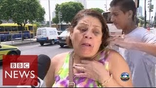 Rio robbery attempt filmed by TV crew - BBC News