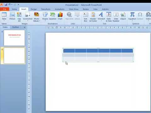 Tables Group in Insert Tab  Power point  Video Tutorials in Hindi  - WWW.LSOIT.COM