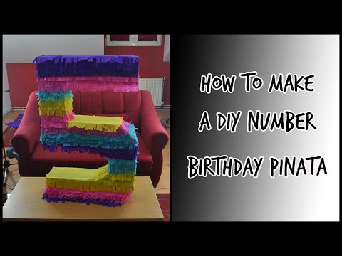 DIY Birthday Pinata - Number Edition