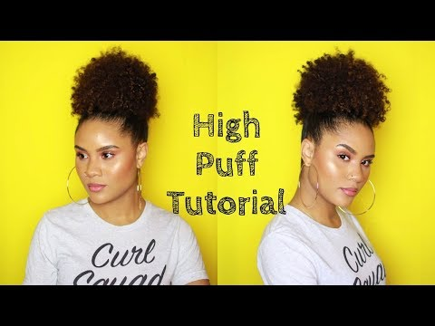 HOW TO | HIGH PUFF ON NATURAL HAIR | AS I AM LONG & LUXE | CURLSFOTHEGIRLS