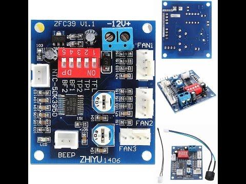 5$ 12V Fan Temperature Control Speed Demo