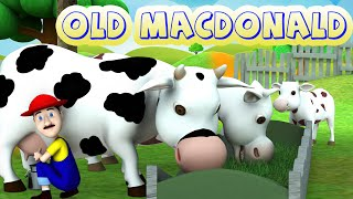 Old MacDonald Had A Farm - 3D Animation English Nursery Rhymes & More Kids Rhymes