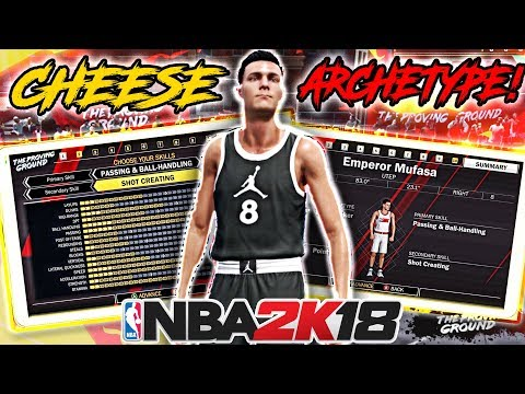 NBA 2K18 MY CHEESE ARCHETYPE BUILD! BEST HEIGHT/WEIGHT/ARM LENGTH!