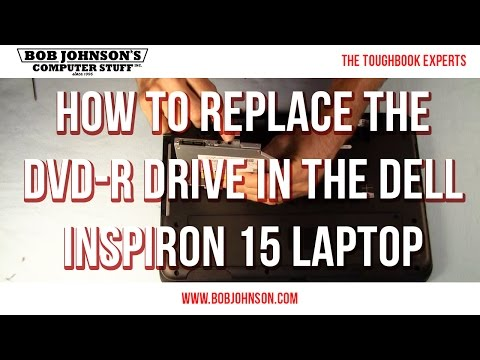 How to replace the DVD-R drive in the Dell Inspiron 15 Laptop