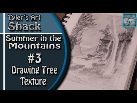 How to Draw - Summer in the Mountains Series Part Three - How to Draw Trees