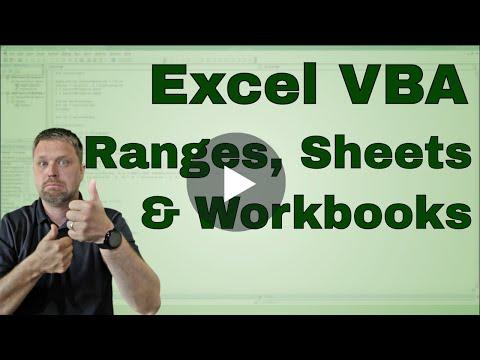 Creating a Excel VBA (Macro) Range, Worksheet, or Workbook Variable