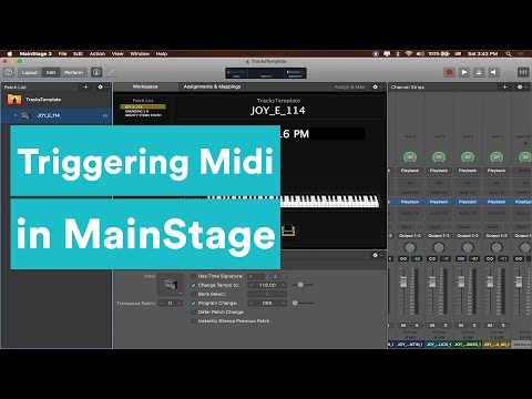 MainStage Tutorial - How to Trigger Your Tracks with Looptimus