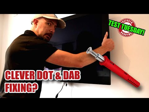HEAVY TV on Dot & Dab Dryline Wall with ONE Corefix Screw! [75]