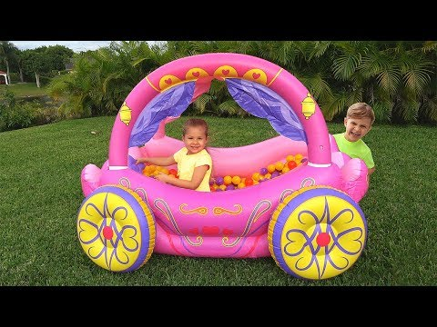 Xxx Mp4 Diana Pretend Play With Princess Carriage Inflatable Toy 3gp Sex