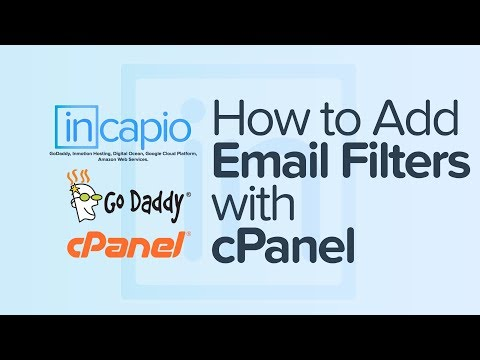 How to add email filters with cPanel | Web Hosting | GoDaddy | 2018